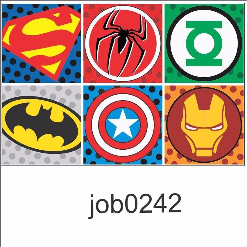 adesivo desenho filme símbolos super heróis job0242 r 64 99 em