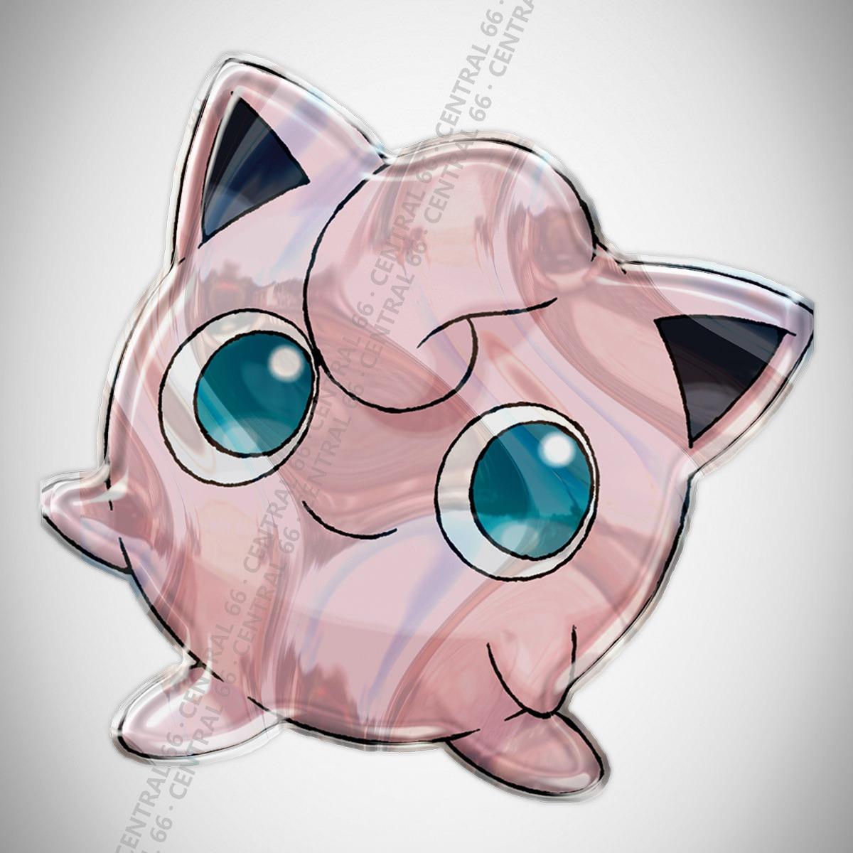Adesivo Desenho Pokemon Jigglypuff Resinado R 29 90 Em Mercado