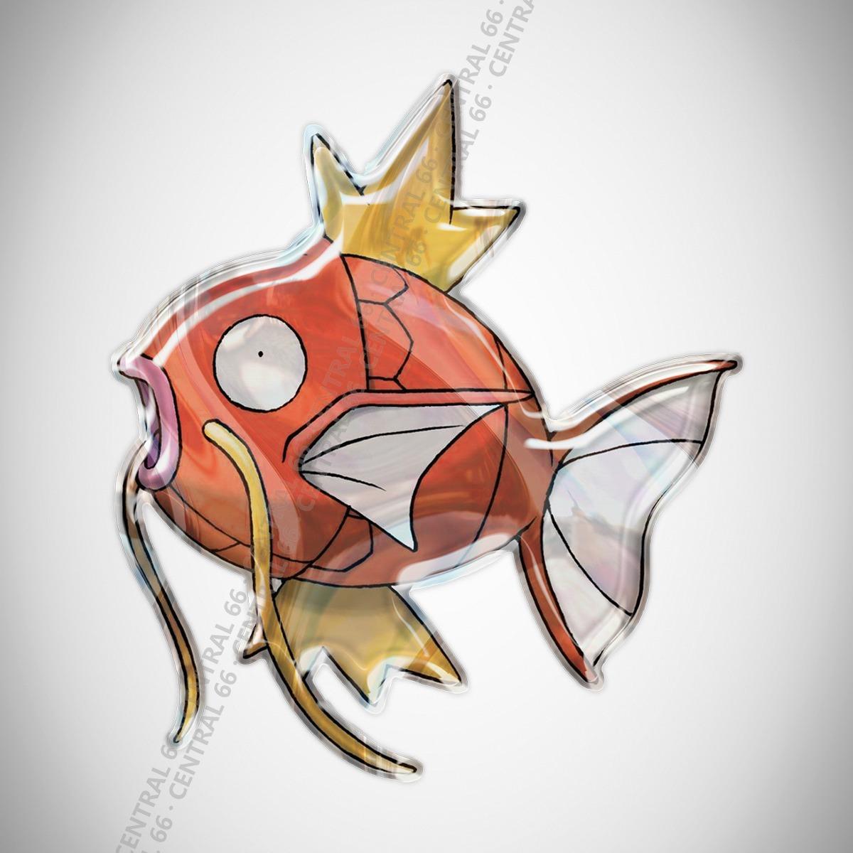Adesivo Desenho Pokemon Magikarp Resinado R 29 90 Em Mercado Livre
