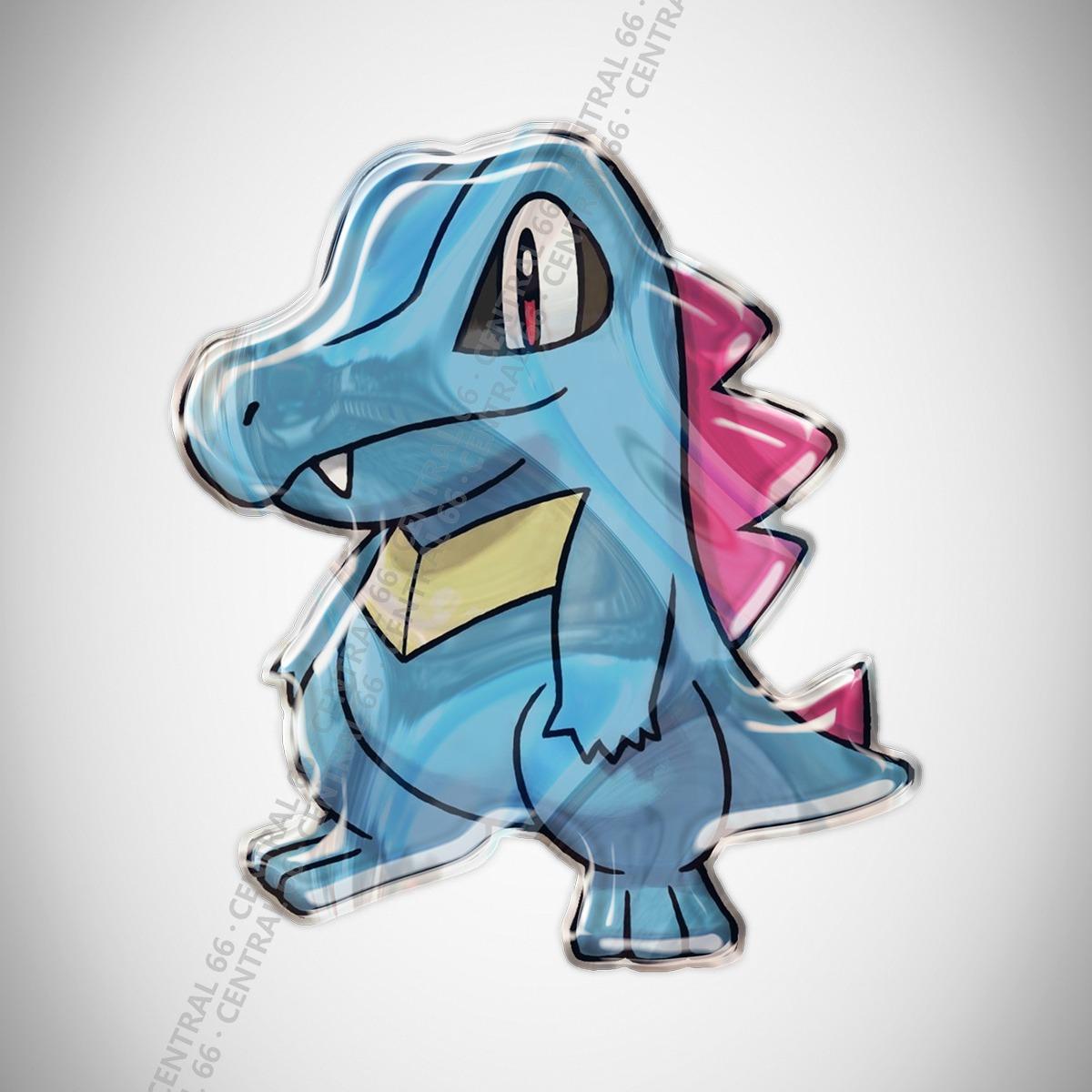 Adesivo Desenho Pokemon Totodile Resinado R 29 90 Em Mercado Livre