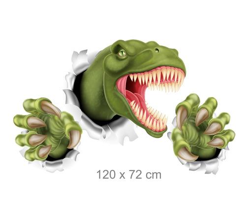 adesivo dinossauro infantil buraco 3d de parede m11