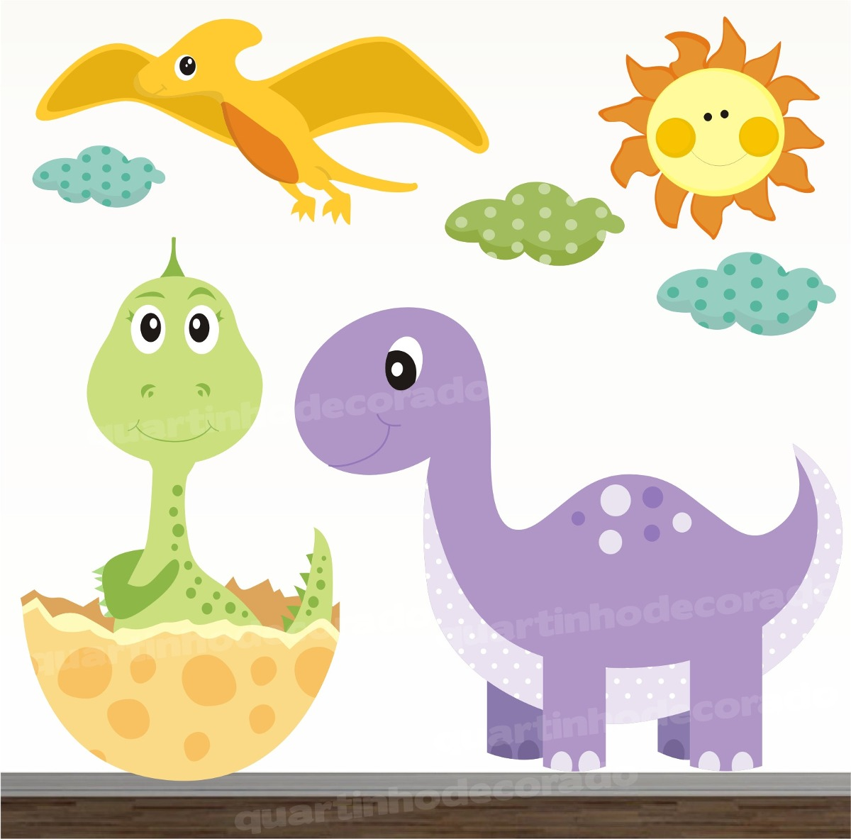 Adesivo Dinossauro Infantil Zoo Kits Completos Ja Recortados R
