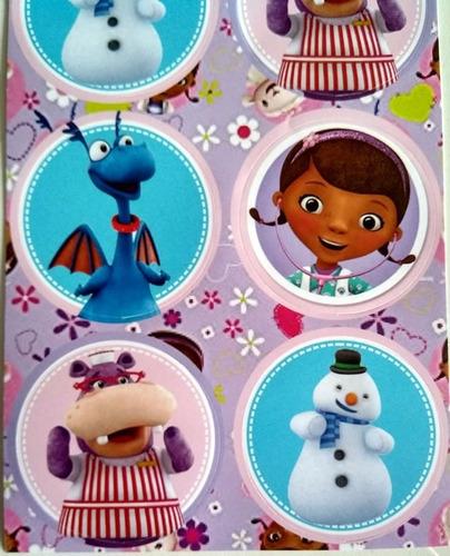 adesivo doutora brinquedos (30 adesivos)