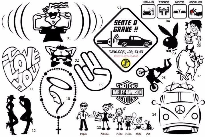 Adesivo E Frases Para Carros E Motos R$ 5,00 em Mercado Livre