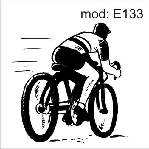 Artesanato Em Madeira Para Jardim ~ Adesivo E133 Esporte Ciclismo Ciclista Bicicleta Velocidade R$ 65,61 em Mercado Livre