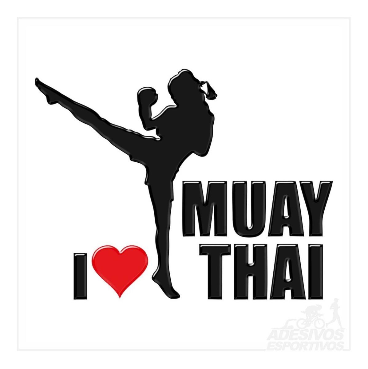 Adesivo Emblema Muay Thai Feminino Resinado 3d R 25 00 Em