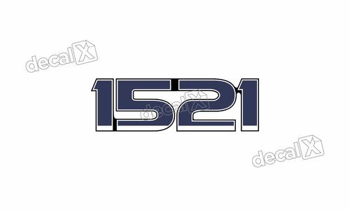 adesivo emblema resinado caminhão ford 1521 cm13