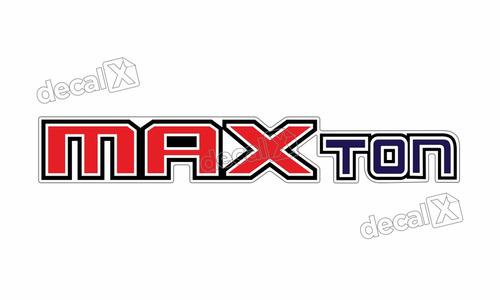 adesivo emblema resinado caminhão ford max ton cm41