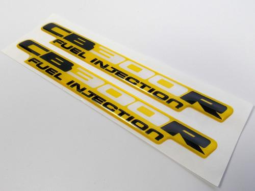 adesivo emblema resinado cb300r 2009 2010 amarela cb 300