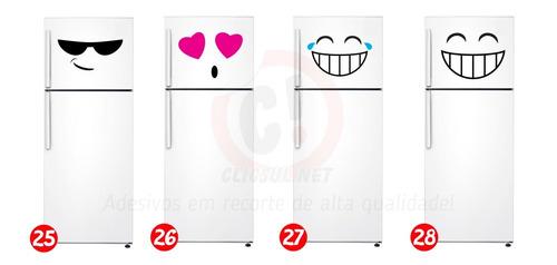 adesivo emoticon para geladeira frete grátis
