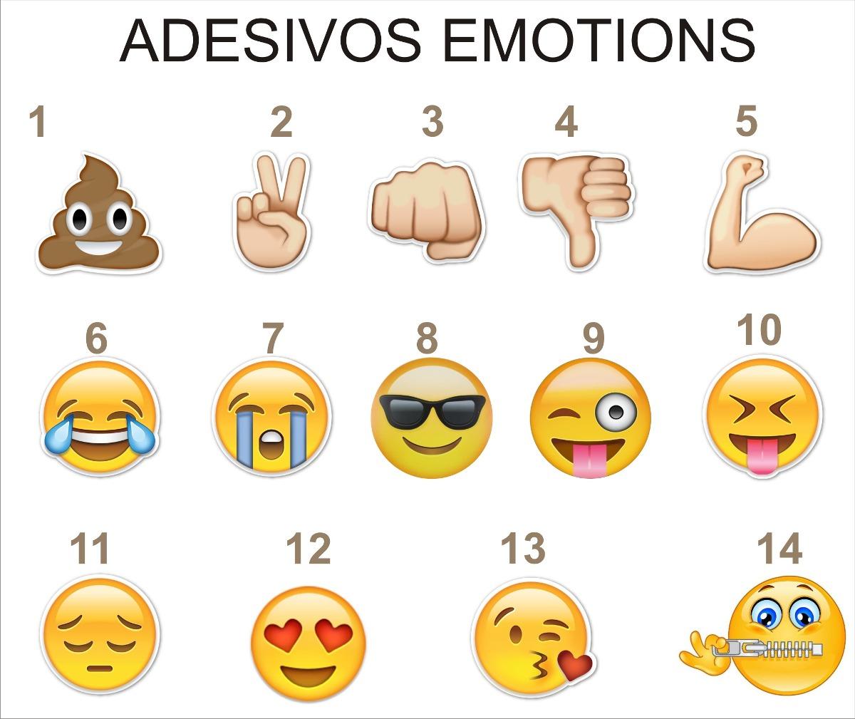 Adesivo Emotions Emojis Frete Grátis R$ 4,99 em Mercado Livre