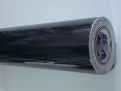 adesivo envelopamento carro moto preto black piano 0,50x40
