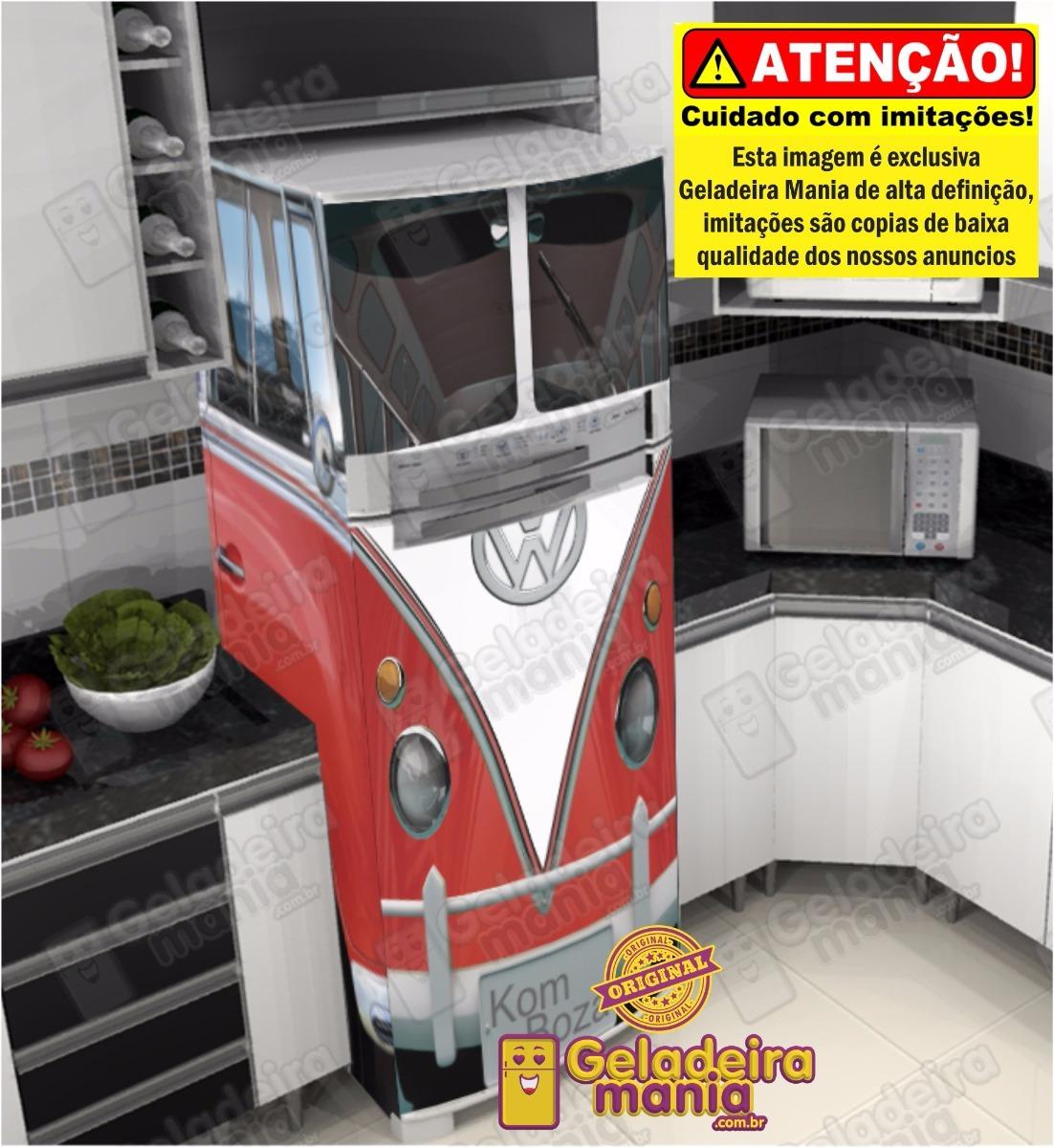 Artesanato Quarto Infantil ~ Adesivo Envelopamento Geladeira Kombi Perua Varias Cores R$ 223,00 em Mercado Livre