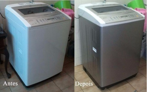 adesivo envelopamento geladeira móveis fogão prata tipo inox