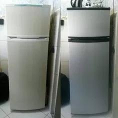 adesivo envelopamento geladeira prata inox 7mx1m + espatula