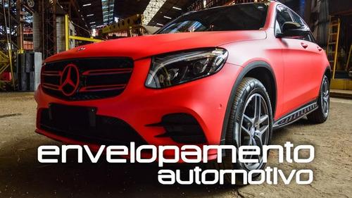 adesivo envelopamento jateado vermelho automotivo 2mx1,38m