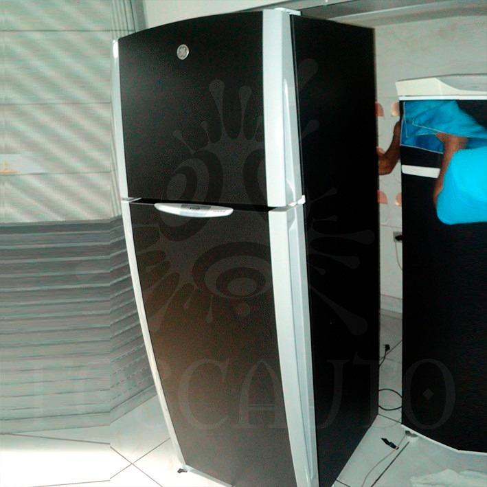 Aparador Sa Tagalog ~ Adesivo Envelopamento Preto Fosco Armário Cozinha Geladeira R$ 8,45 em Mercado Livre