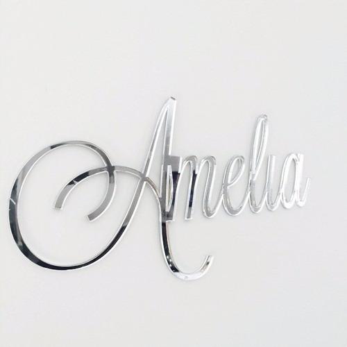 adesivo espelho com seu nome personalizado + brinde