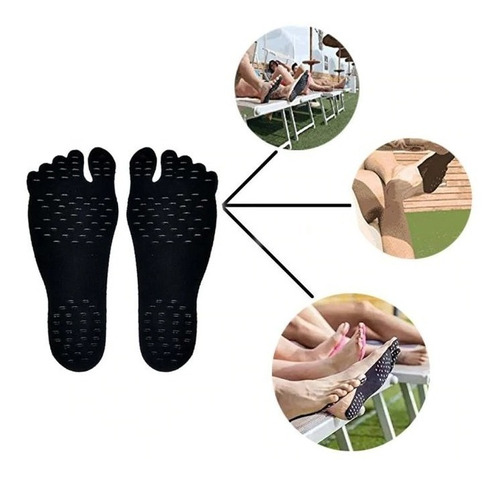 adesivo etiqueta sapato para os pés foot pad praia piscina