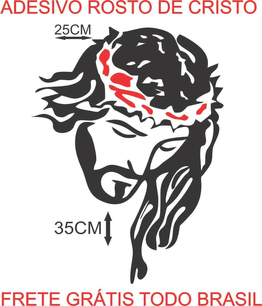 Adesivo De Parede Harry Potter ~ Adesivo Face De Jesus Cristo Rosto De Cristo Para Caminh u00e3o R$ 27,00 em Mercado Livre