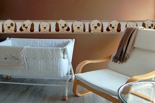 adesivo faixa cachorro - mudo minha casa