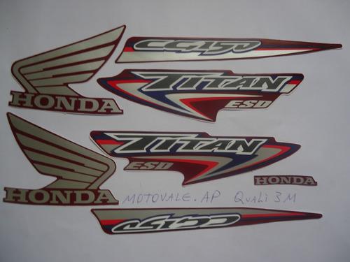 adesivo faixa cg titan 150 esd 07 vermelha