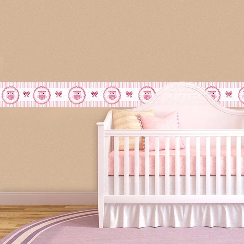 4cdbc939a adesivo faixa decorativa para quarto infantil corujinha. Carregando zoom.
