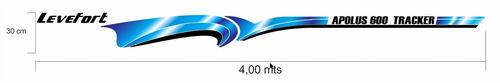 adesivo faixa lancha levefort apolus 600 tracker