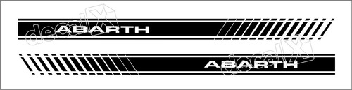 adesivo faixa latera fiat punto abarth pntoa05