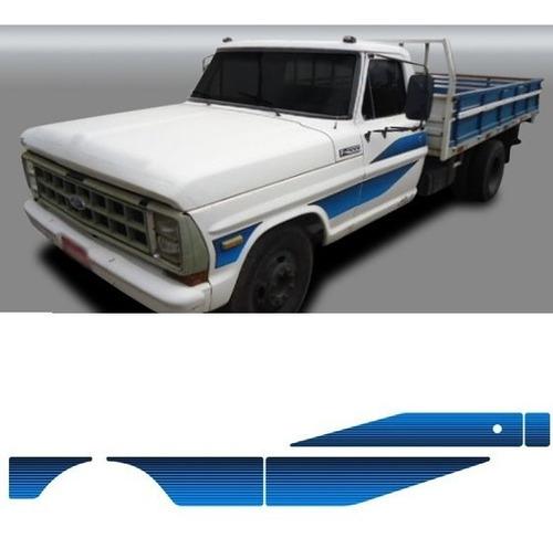 adesivo faixa lateral f4000 f-4000 89 cor azul original