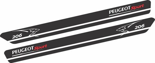 adesivo faixa lateral peugeot 206 imp16