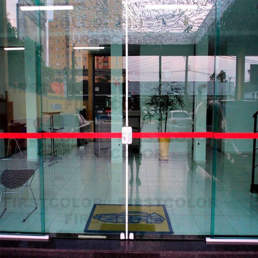 Adesivo faixa p sinaliza o de porta vidro anti trombada for Adesivos p porta de vidro