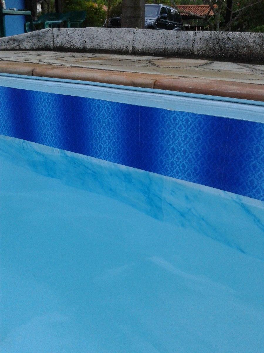 Adesivo faixa para borda de piscinas r 14 90 em mercado for Piscina fibra em l