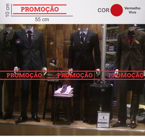 0729d32f4 Adesivo Promoção Para Vitrine no Mercado Livre Brasil
