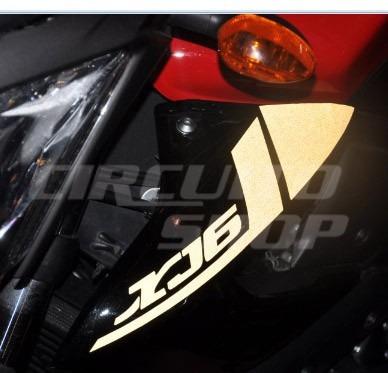 adesivo faixa refletiva moto yamaha xj6 2011 tanque aba 600