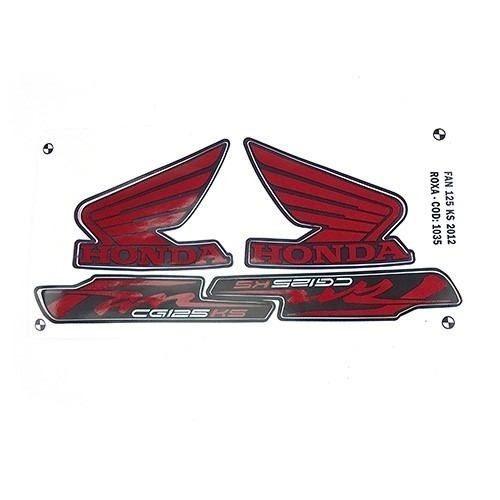 adesivo fan125 ks 2012 roxa kit