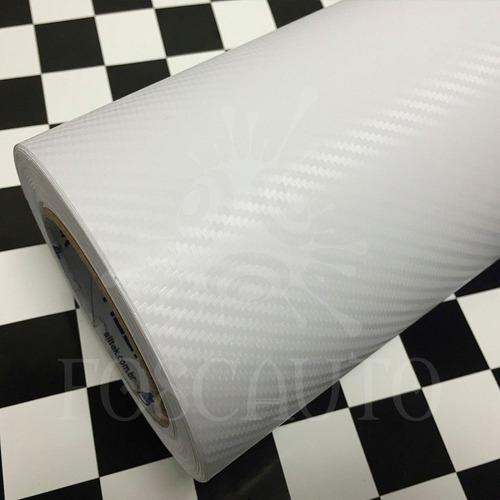 adesivo fibra de carbono moldável 3d tuning - 1,00m x 34cm