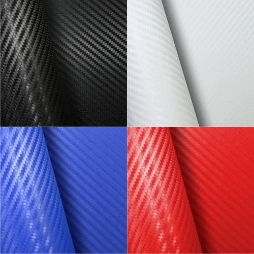 adesivo fibra de carbono moldavel - 7 cores - confira!!