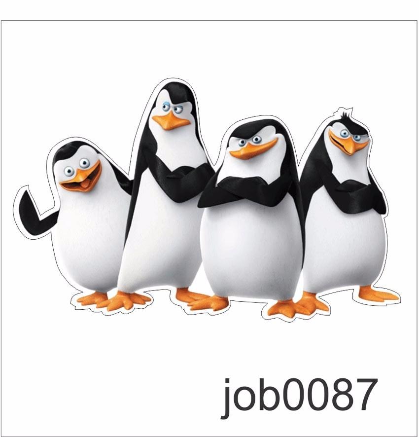 Adesivo Filme Infantil Desenho Pinguins Madagascar Job0087 R 64