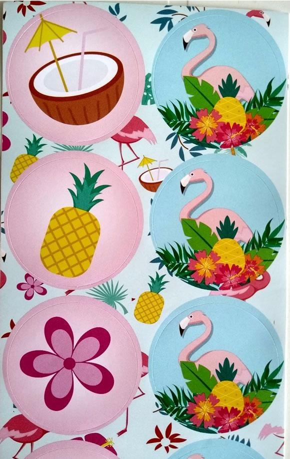 Adesivo Para Levantar Mama Funciona ~ Adesivo Flamingo Cisne (30 Unidades) R$ 3,99 em Mercado Livre