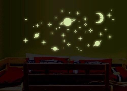Armario Segunda Mano Mallorca ~ Adesivo Fluorescente Neon Planeta, Lua E Estrela Ou Fada R$ 27,00 em Mercado Livre