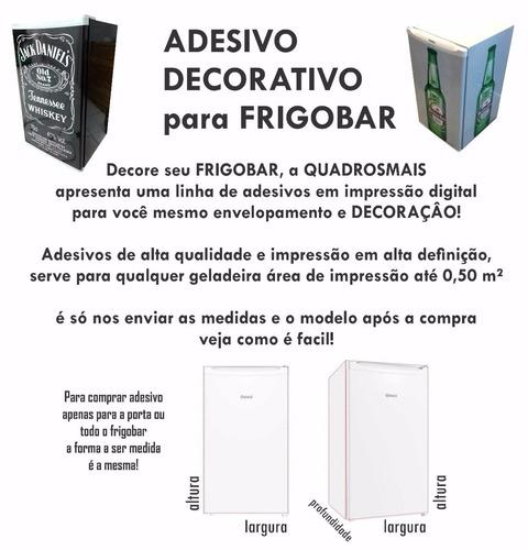 adesivo frigobar envelopamento porta cervejeiro skol cerveja