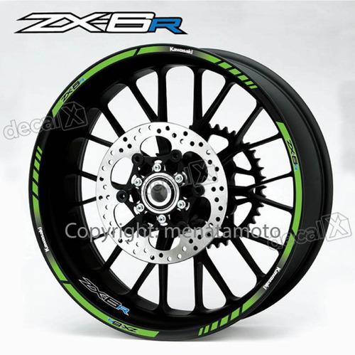 adesivo friso refletivo roda moto kawasaki ninja zx6r zx 6r