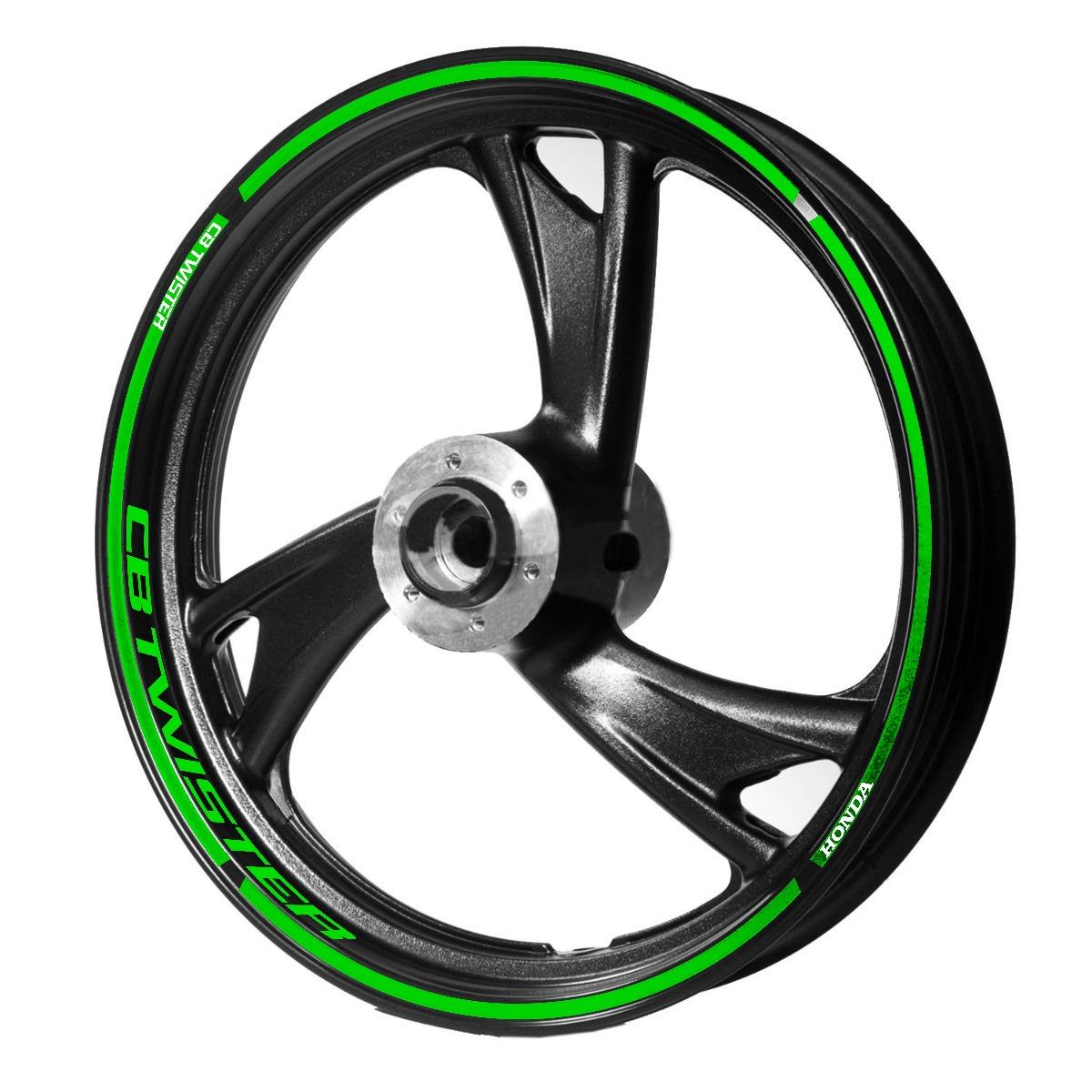 4aba2effc81 adesivo friso/logo roda honda cb 250 twister verde refletivo. Carregando  zoom.