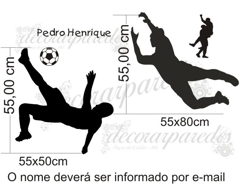 Armario Sinonimo De Arca ~ Adesivo Futebol 02 Jogadores B Decorar Paredes Esportes R$ 48,00 em Mercado Livre