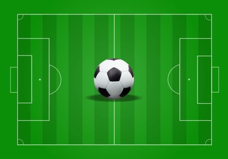 Esporte Tileable Papel De Parede Colorido: Adesivo Futebol Campo Jogo Bola Esporte Gramado Gg137
