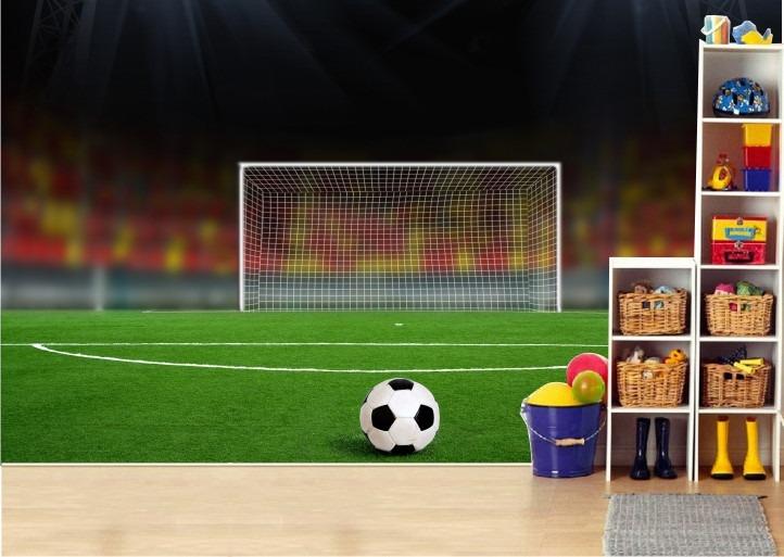 Esporte Tileable Papel De Parede Colorido: Adesivo Futebol Painel Quarto Infantil Papel De Parede