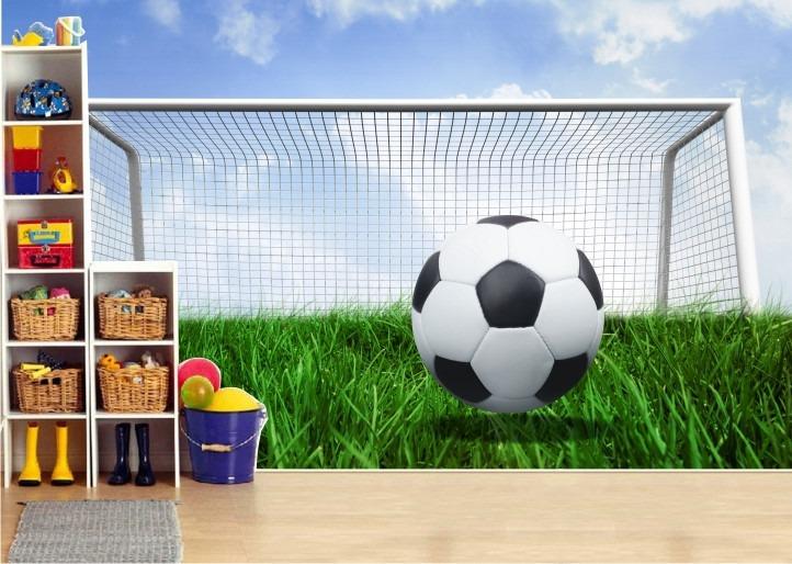 Adesivo futebol papel parede revestimento infantil r - Papel infantil para paredes ...