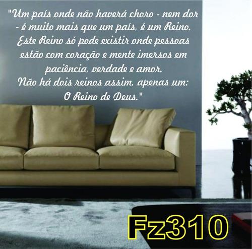 adesivo fz310 um país onde não haverá choro o reino de deus.