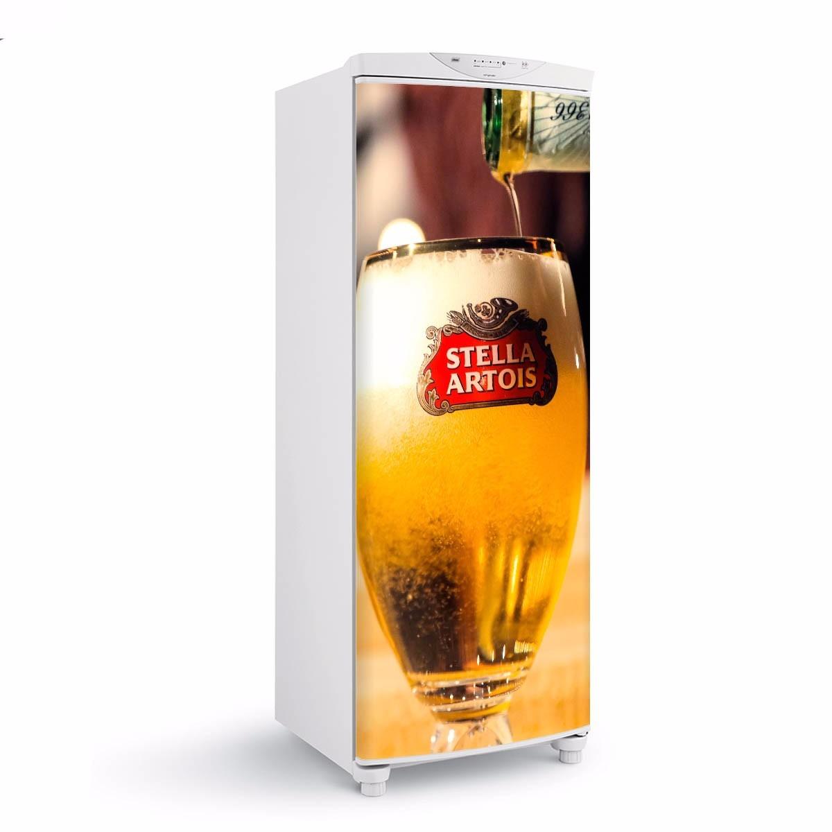 Aparador De Sofa Em Ingles ~ Adesivo Geladeira Cerveja Stella Artois Envelopamento Porta R$ 60,00 em Mercado Livre